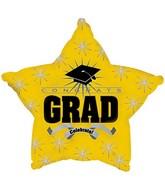 """18"""" Congrats Grad Opaque Yellow"""