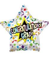 "9"" Airfill Congratulations Grad Streamers"
