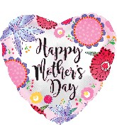 """17"""" Happy Mother's Day Crazy Flowers Balloon"""