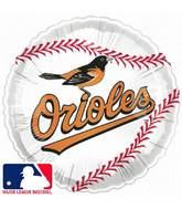 """9""""  Airfill Baseball Baltimore Orioles Balloon"""