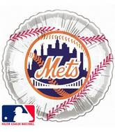"9""  Airfill Baseball New York Mets Balloon"