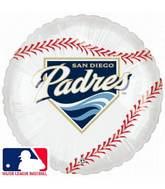 "18"" MLB BaseBall Balloon San Diego Padres"