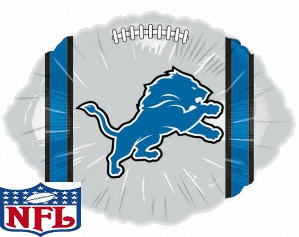 """18"""" NFL Foil Balloon Detroit Lions"""