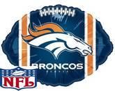 "9"" Airfill NFL Denver Broncos Football Balloon"