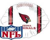 "9"" Airfill NFL Arizona Cardnials Football Balloon"