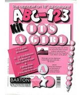"18"" ABC-123 Kit ""It's a Girl"" Pink/White (24 Balloons)"