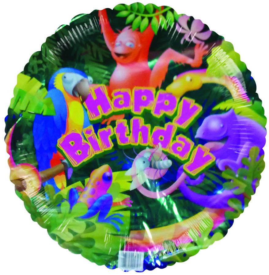 "18"" Tropical Jungle Happy Birthday"