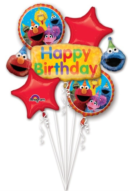 Bouquet Sesame Street Fun Balloon