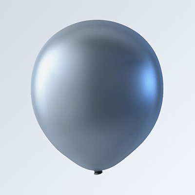 "5"" Latex Balloons Creative Brand (144 Count) Silver"