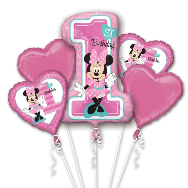 Bouquet Minnie 1st Birthday Balloon