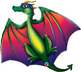 "45"" Mythical Dragon Jumbo Foil Balloon"