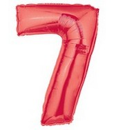 "40"" Large Number Balloon 7 Red"