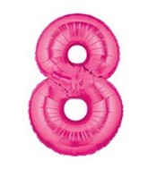 "40"" Large Number Balloon 8 Pink"