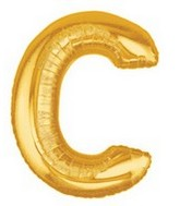 "40"" Large Letter Balloon C Gold"