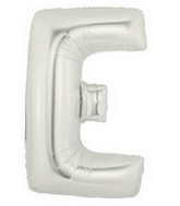 "40"" Large Letter Balloon E Silver"