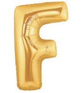 "40"" Large Letter Balloon F Gold"