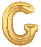 "40"" Large Letter Balloon G Gold"