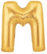 "40"" Large Letter Balloon M Gold"