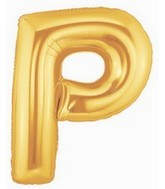 "40"" Large Letter Balloon P Gold"
