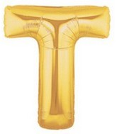 "40"" Large Letter Balloon T Gold"