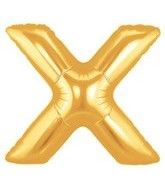 "40"" Large Letter Balloon X Gold"
