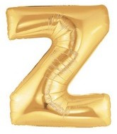 "40"" Large Letter Balloon Z Gold"