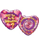 "36"" Will You Be My Valentine? Spin Balloon"