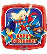 "18"" DC Super Hero Girls Happy Birthday Foil Balloon"