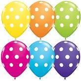 """11"""" Big Polka Dots latex Balloons 50 Count"""