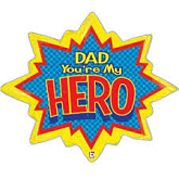 "32"" Dad Super Hero Balloon"