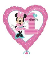 "18"" Minnie 1st Birthday Balloon"