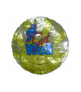"9"" Airfill Get Well Sunshine Balloon"