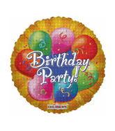 "4"" Airfill Orange Happy Birthday"