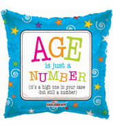 "18"" Age is Just A Number Balloon"