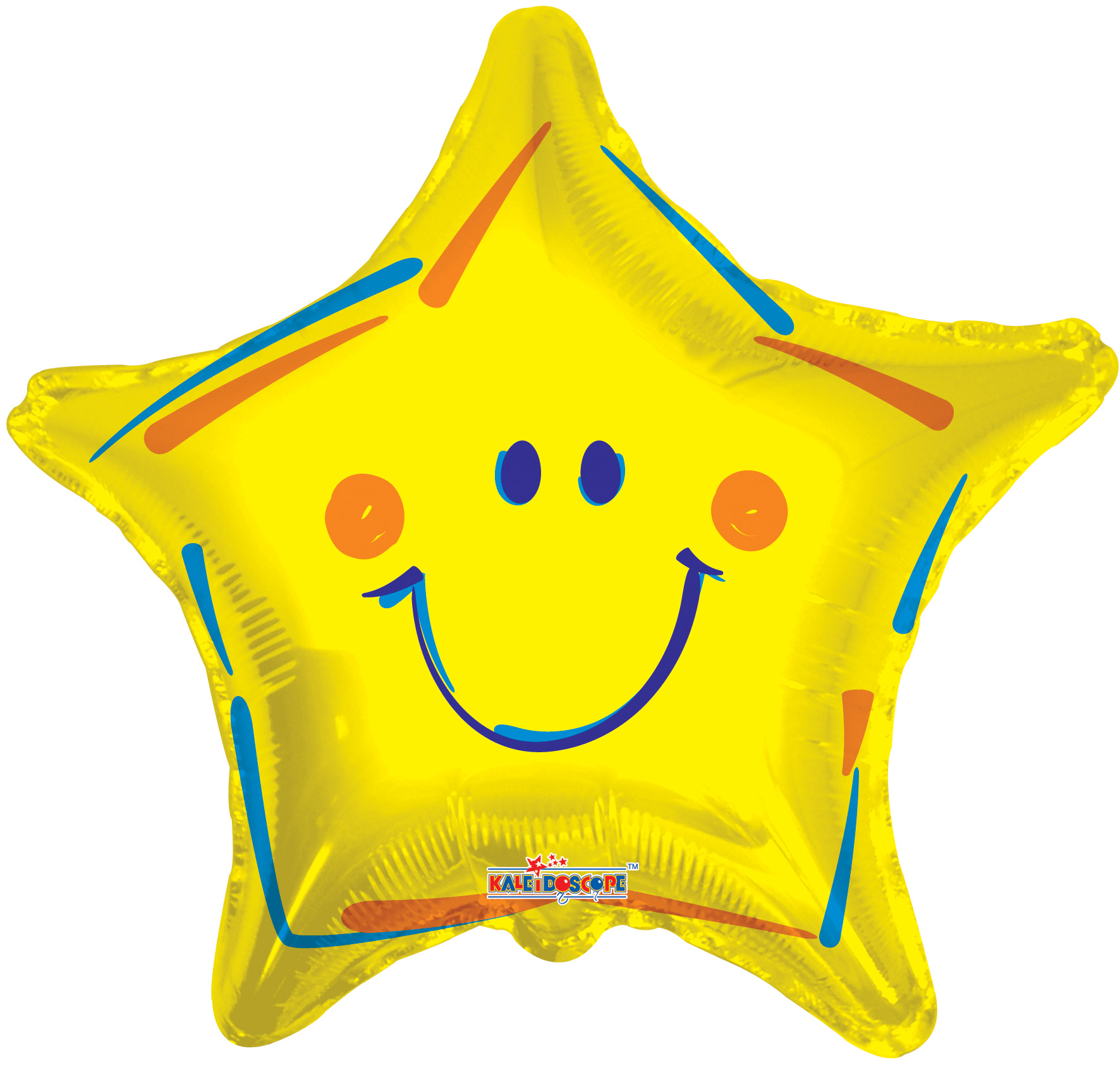 "18"" Yellow Smiley Star Balloon"