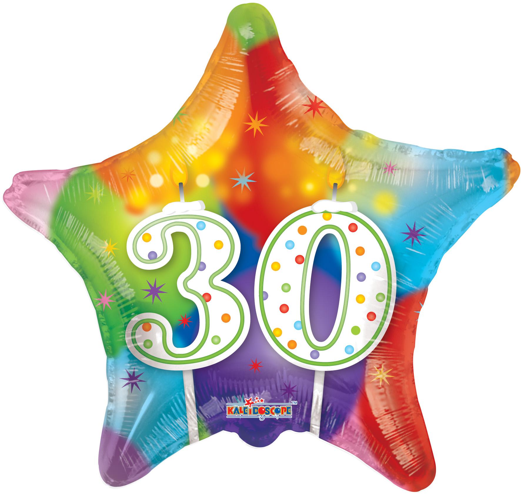 "18"" 30th Candles Balloon"