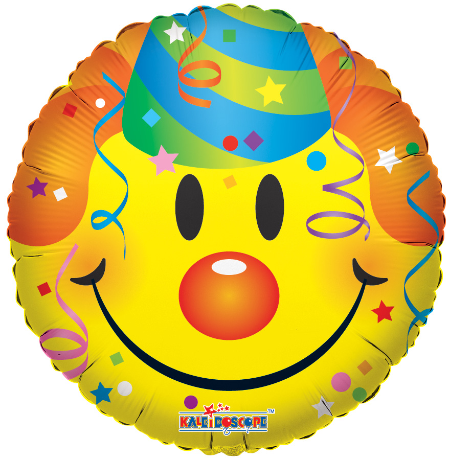 """18"""" Smiley With Party Hat Balloon"""