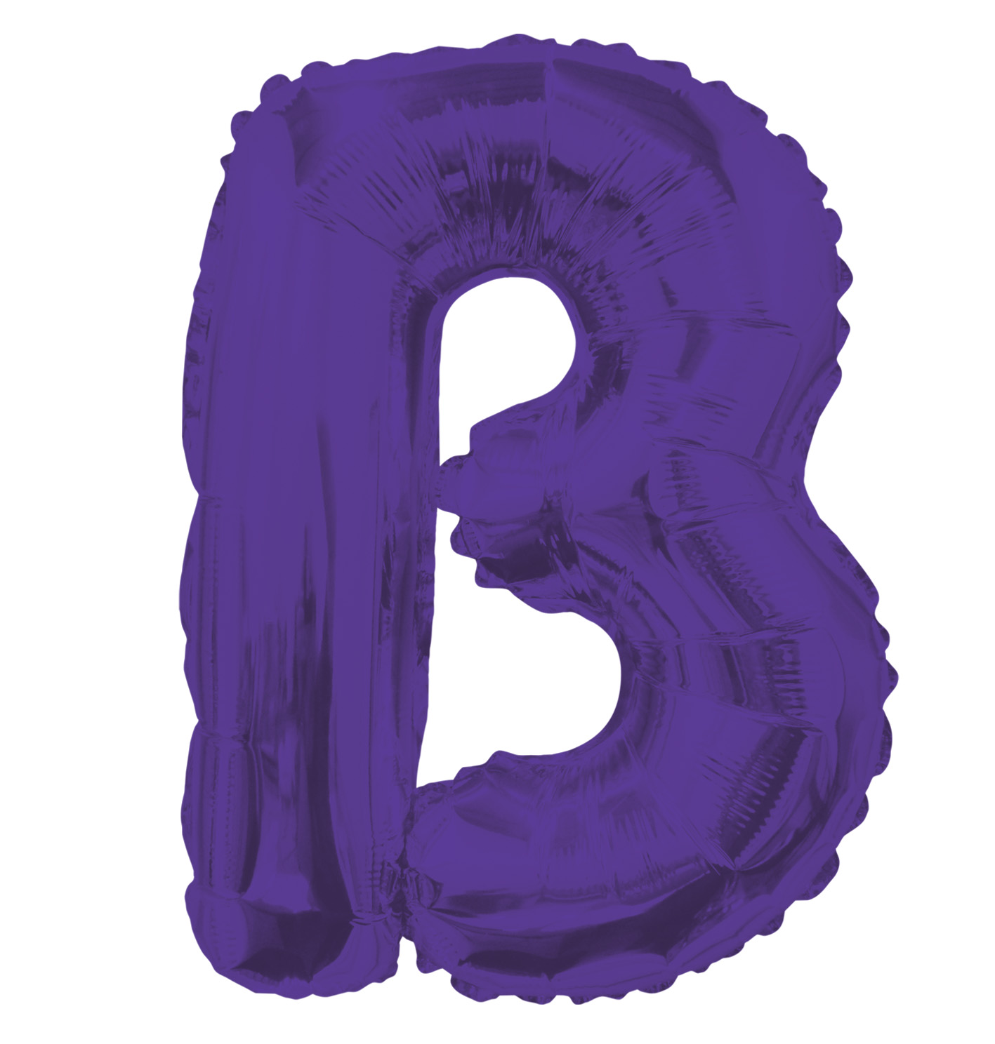 """14"""" Airfill with Valve Only Letter B Purple Balloon"""