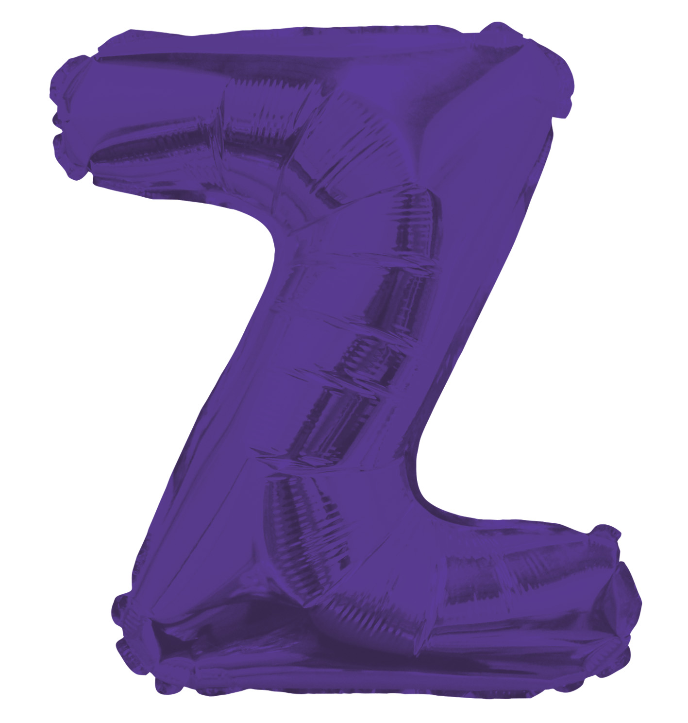 """14"""" Airfill with Valve Only Letter Z Purple Balloon"""