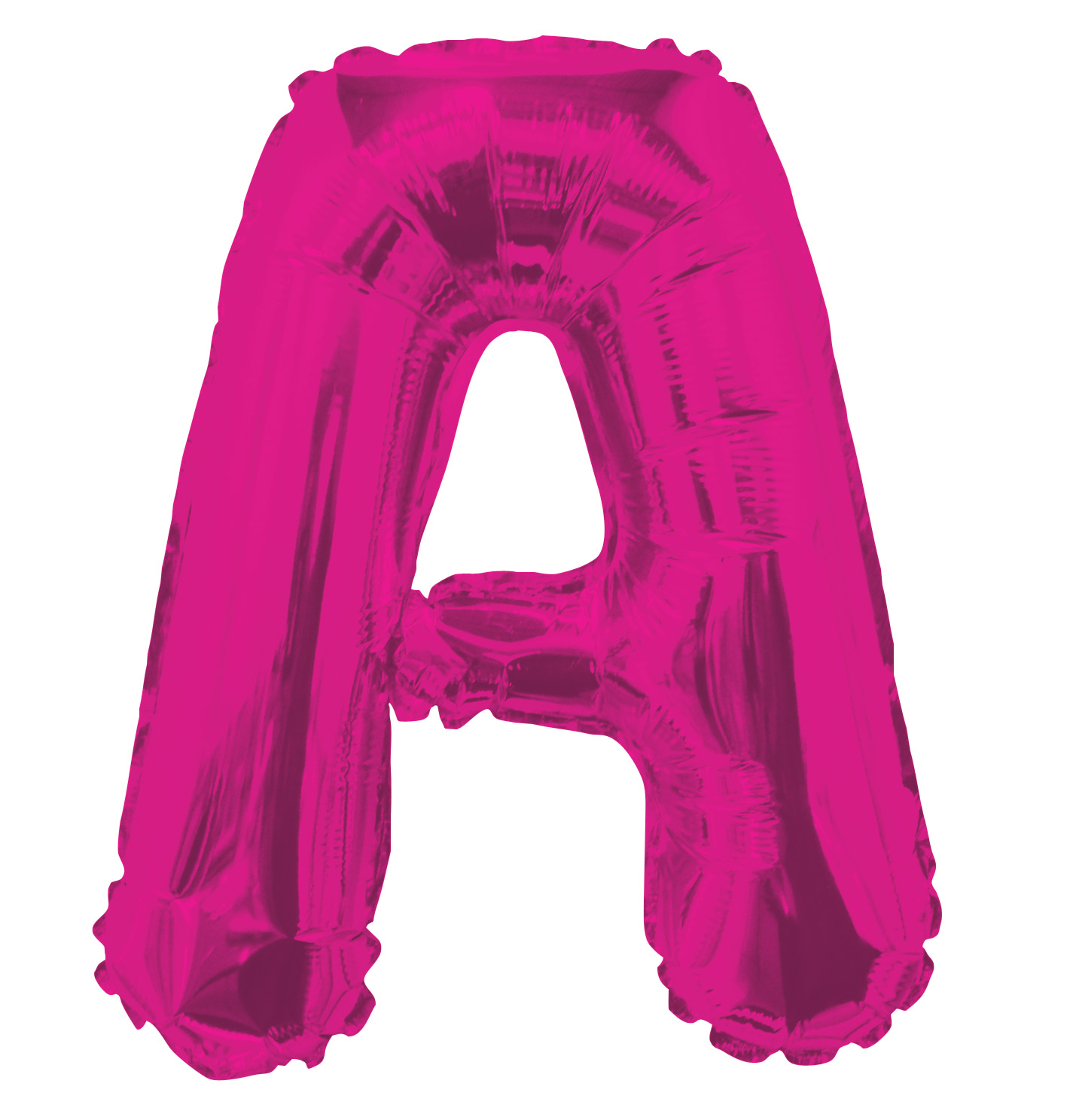 """14"""" Airfill with Valve Only Letter A Hot Pink Balloon"""