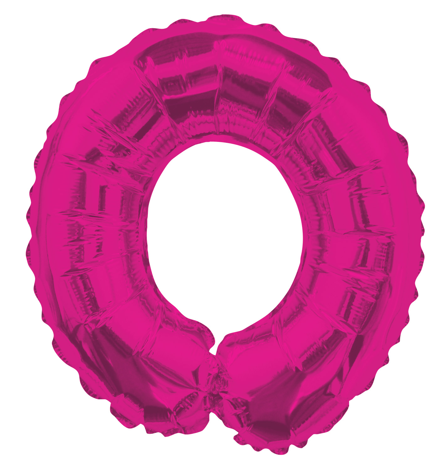 """14"""" Airfill with Valve Only Letter O Hot Pink Balloon"""