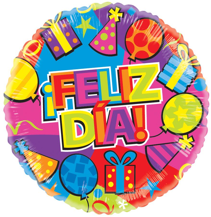 """18"""" Feliz Dia Festivo Gellibean Balloon"""