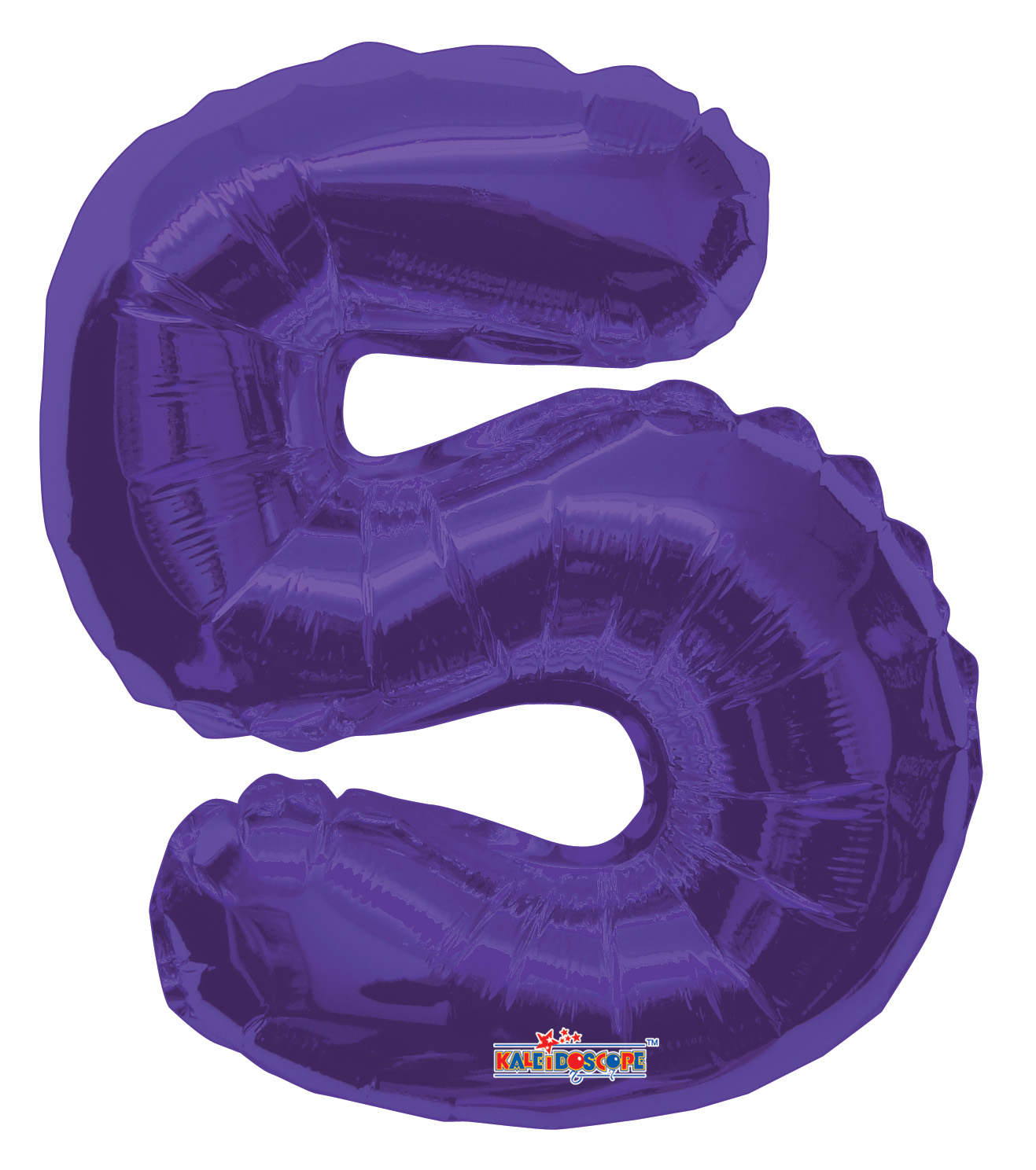 """14"""" Airfill with Valve Only Number 5 Purple Balloon"""