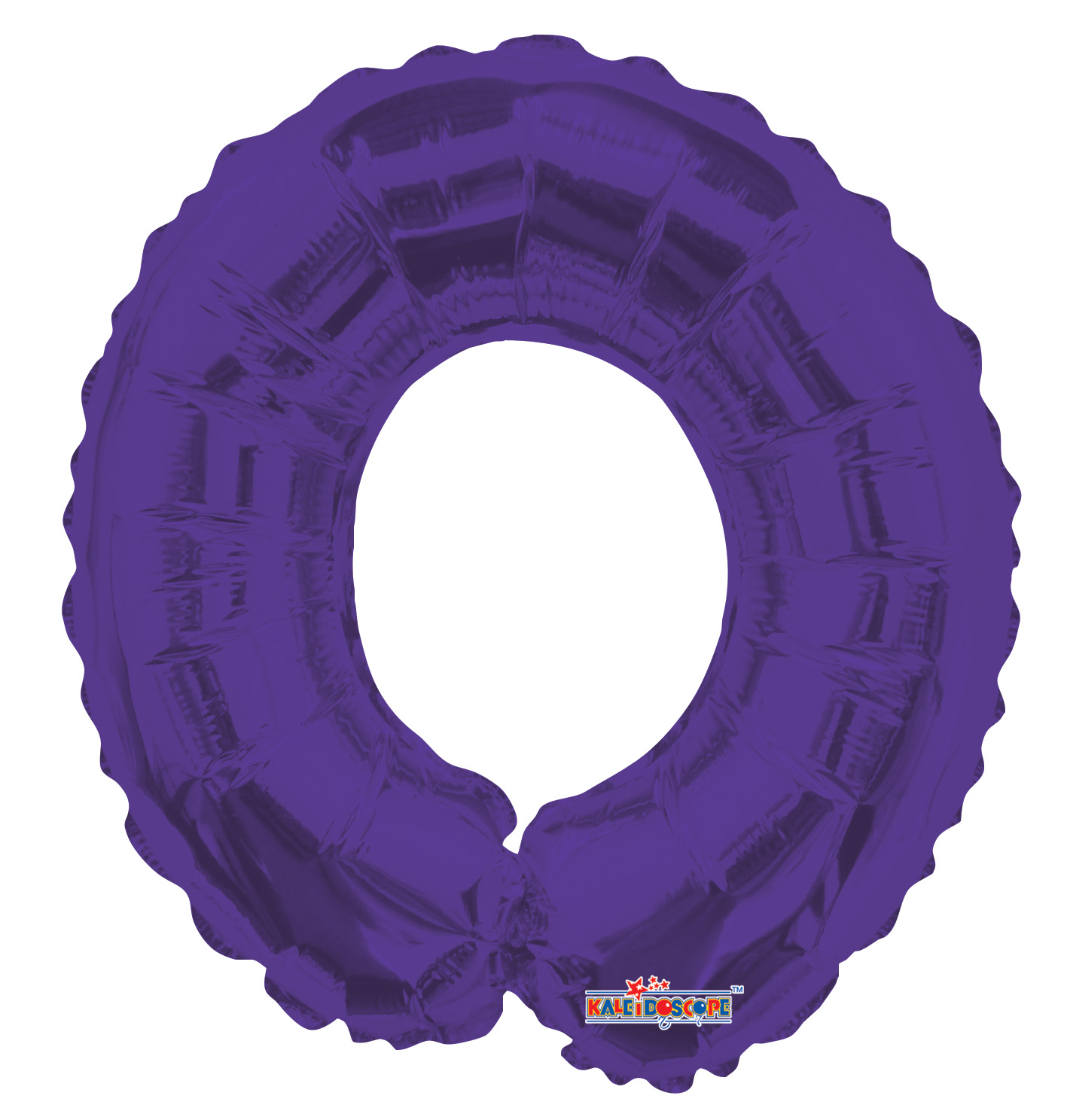 """14"""" Airfill with Valve Only Number 0 Purple Balloon"""