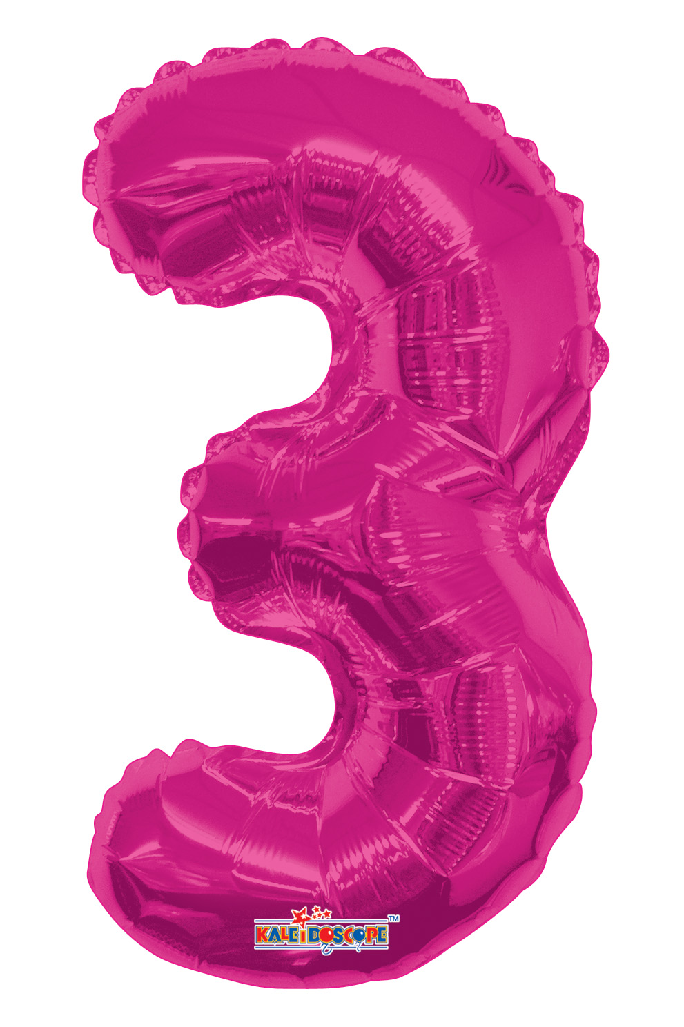 """14"""" Airfill with Valve Only Number 3 Magenta Balloon"""
