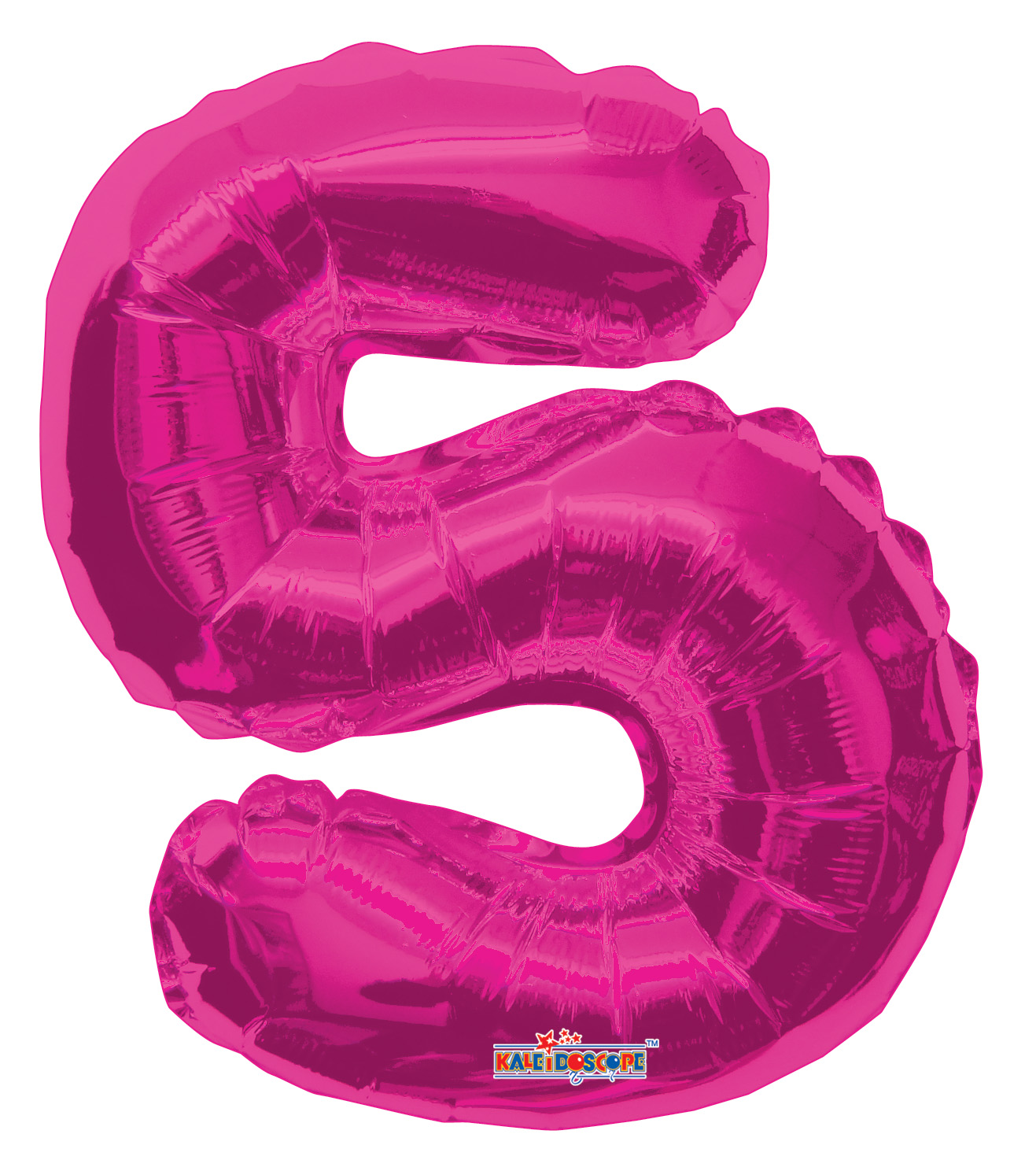 """14"""" Airfill with Valve Only Number 5 Magenta Balloon"""