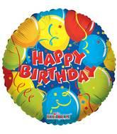 "18"" Birthday With Confetti Balloon"