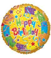 "18"" Birthday Colors Balloon"