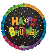 "30"" Happy Birthday Jazzy Colors Balloon"
