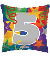 "18"" Party Number 5 Balloon"